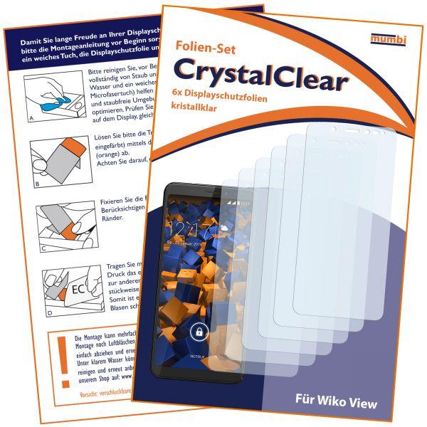 Displayschutzfolie 6 Stck. CrystalClear für Wiko VIEW
