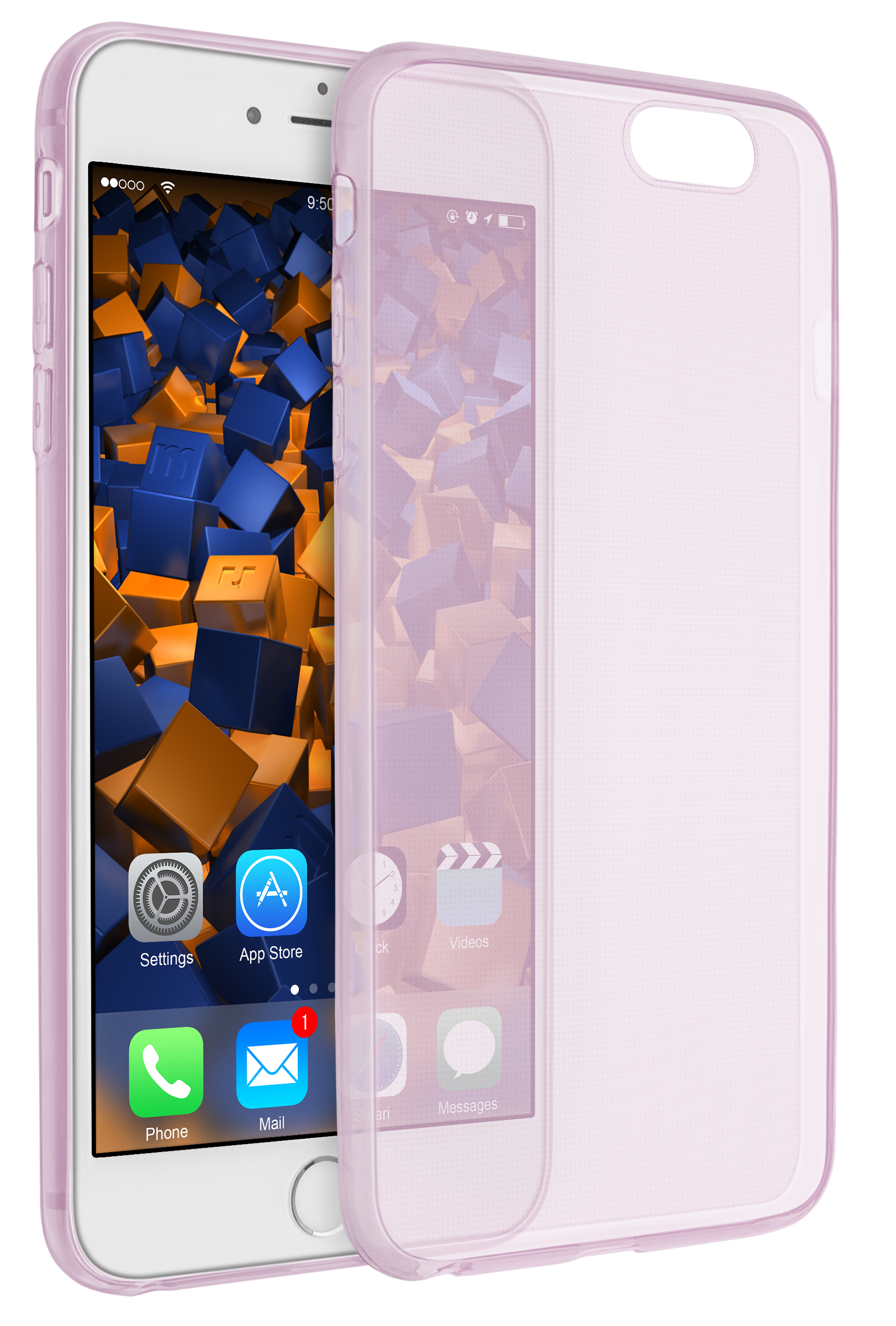 mumbi Ultra Slim TPU Schutz Huelle Apple iPhone 6 6s rosa 1