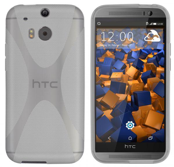 TPU Hülle X-Design schwarz transparent für HTC One M8 / M8s