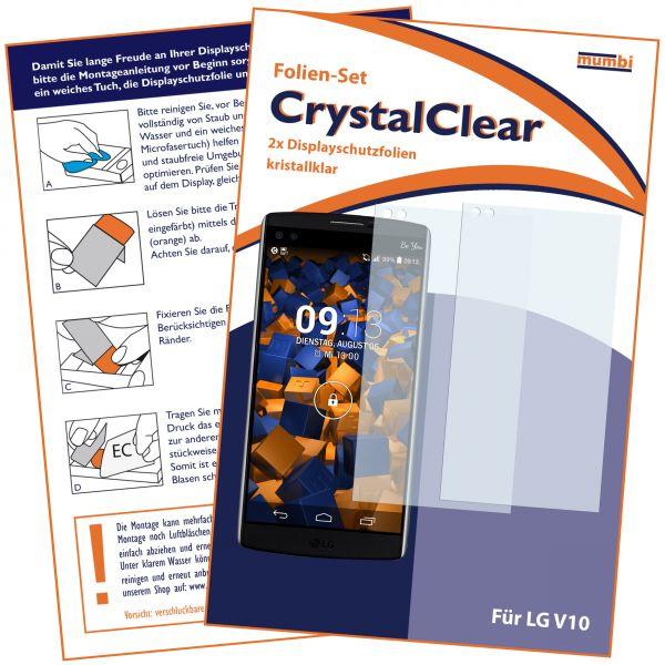 Displayschutzfolie 2 Stck. CrystalClear für LG V10