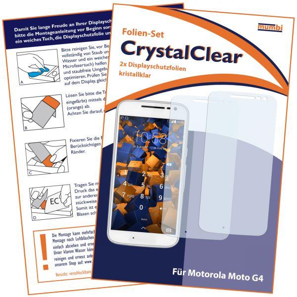 Displayschutzfolie 2 Stck. CrystalClear für Motorola Moto G4