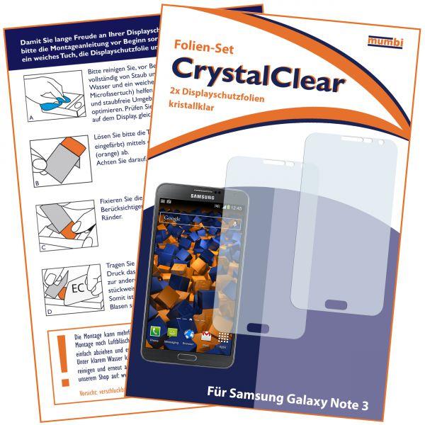 Displayschutzfolie 2 Stck. CrystalClear für Samsung Galaxy Note 3