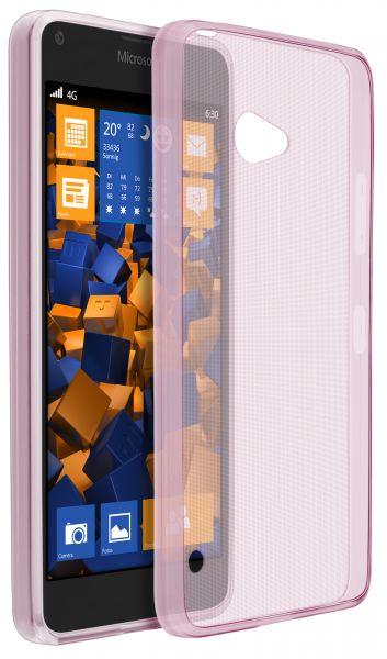 TPU Hülle Ultra Slim rosa transparent für Microsoft Lumia 640