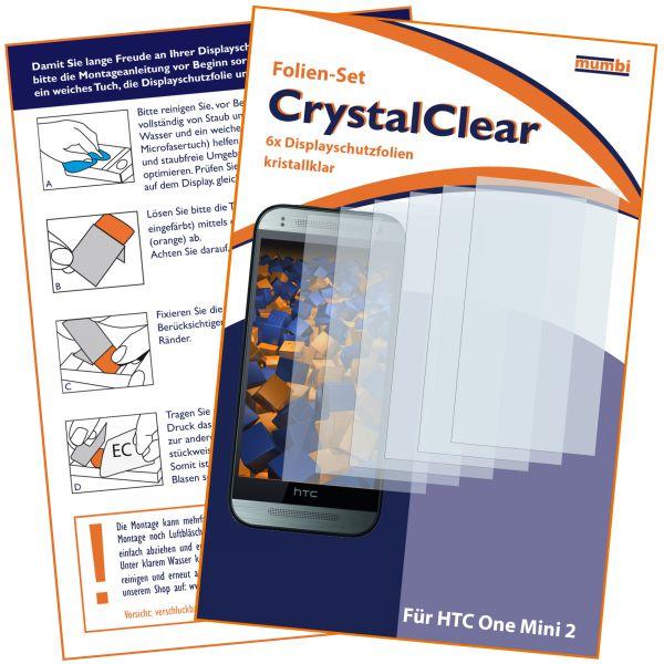 Displayschutzfolie 6 Stck. CrystalClear für HTC One Mini 2