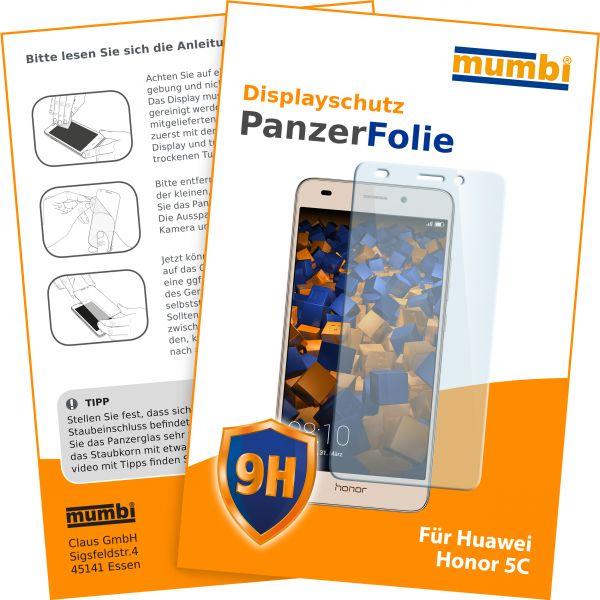 Panzerglasfolie Hartglas 9H für Huawei Honor 5C