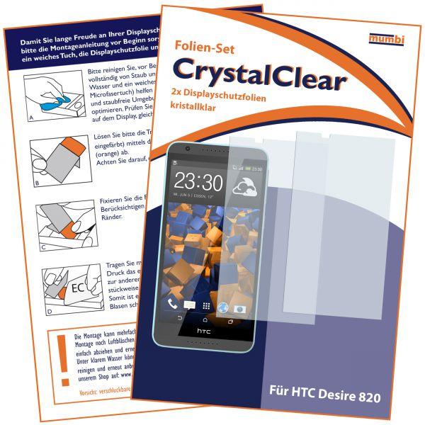 Displayschutzfolie 2 Stck. CrystalClear für HTC Desire 820