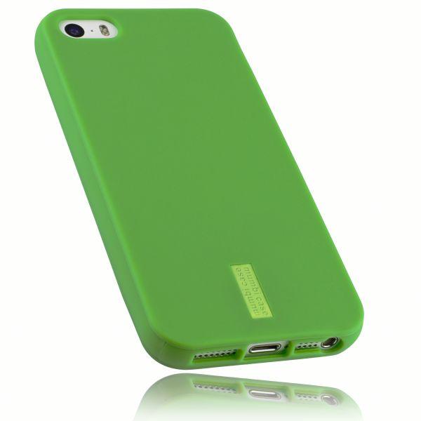 TPU Hülle grün mit Logo für Apple iPhone SE (2016) / 5 / 5s