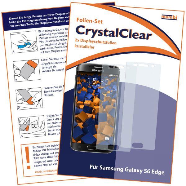 Displayschutzfolie 2 Stck. CrystalClear für Samsung Galaxy S6 Edge