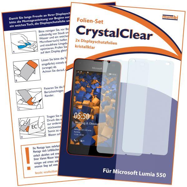Displayschutzfolie 2 Stck. CrystalClear für Microsoft Lumia 550