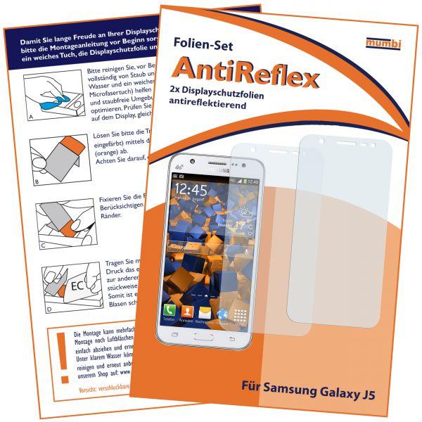 Displayschutzfolie 2 Stck. AntiReflex für Samsung Galaxy J5 (2015)
