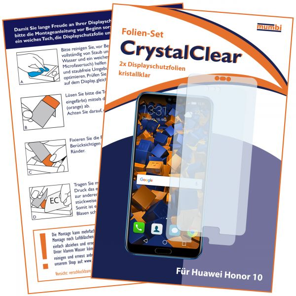 Displayschutzfolie 2 Stck. CrystalClear für Huawei Honor 10
