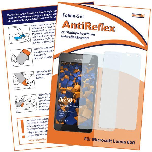Displayschutzfolie 2 Stck. AntiReflex für Microsoft Lumia 650