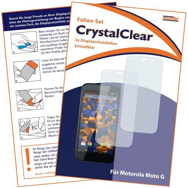 Displayschutzfolie 2 Stck. CrystalClear für Motorola Moto G
