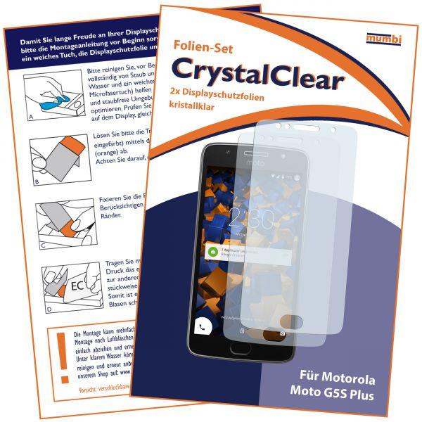 Displayschutzfolie 2 Stck. CrystalClear für Motorola Moto G5S Plus