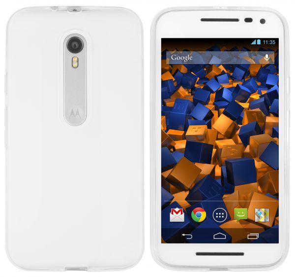 TPU Hülle weiß transparent für Motorola Moto G 3. Generation
