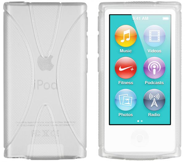 TPU Hülle X-Design weiß transparent für Apple iPod Nano 7G