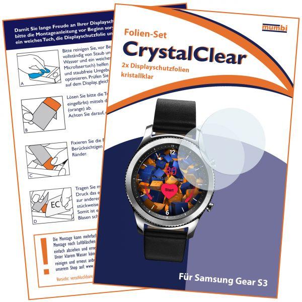 Displayschutzfolie 2 Stck. CrystalClear für Samsung Gear S3