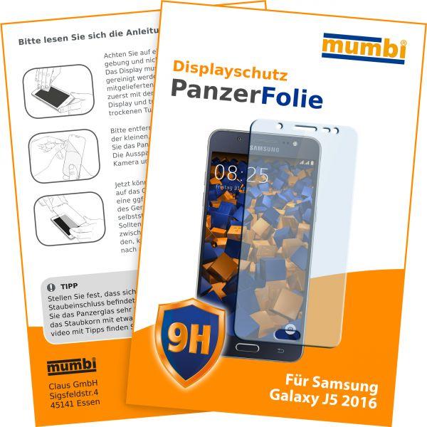 Panzerglasfolie Hartglas 9H für Samsung Galaxy J5 (2016)