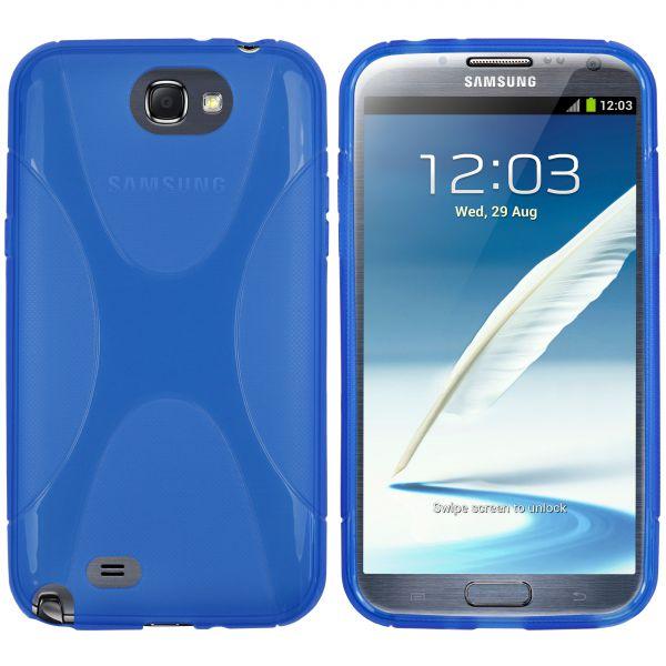 TPU Hülle X-Design transparent blau für Samsung Galaxy Note 2