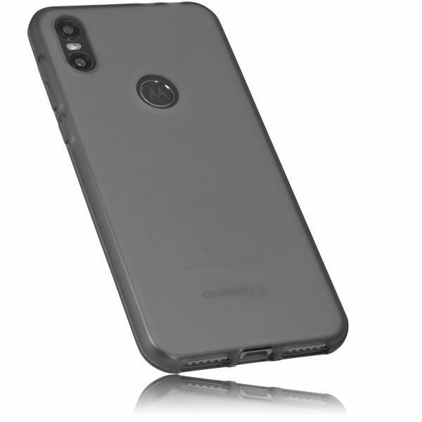 TPU Hülle schwarz transparent für Motorola One