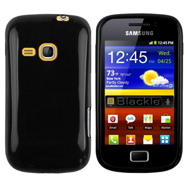 TPU Hülle schwarz für Samsung Galaxy Mini 2