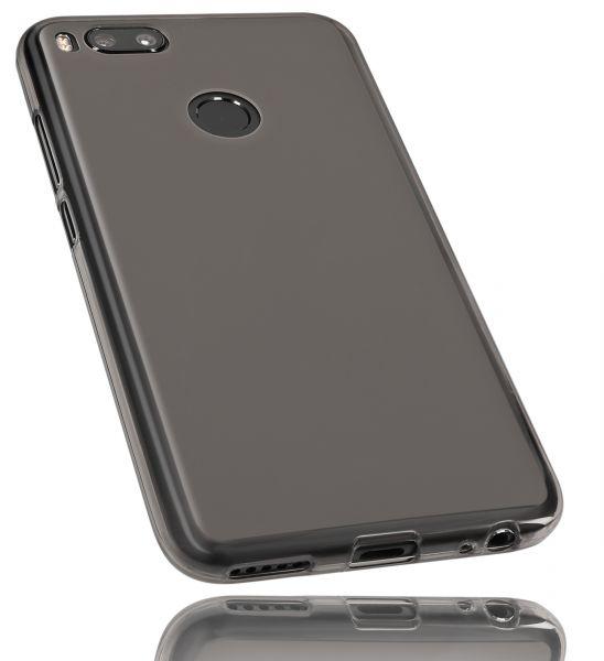 TPU Hülle schwarz transparent für Xiaomi Mi A1
