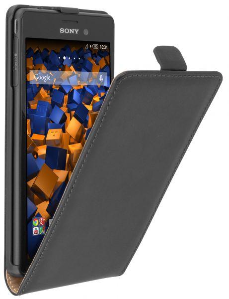 Flip Case Tasche schwarz für Sony Xperia M4 Aqua
