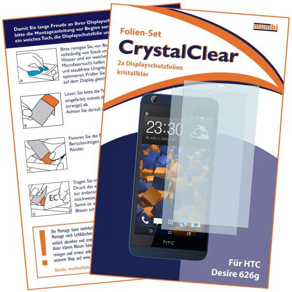 Displayschutzfolie 2 Stck. CrystalClear für HTC Desire 626G