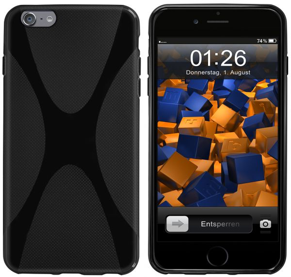 TPU Hülle X-Design schwarz für Apple iPhone 6 Plus / 6s Plus