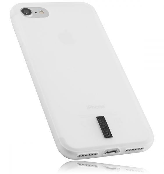 TPU Hülle transparent weiß mit Logo für Apple iPhone 8 / 7 / SE 2 (2020)