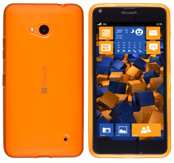 TPU Hülle transparent orange für Microsoft Lumia 640