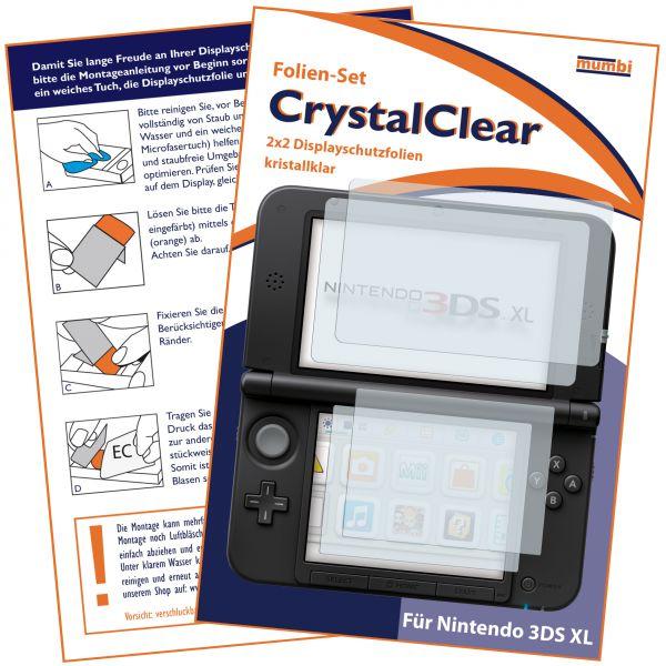 Displayschutzfolie 4 Stck. CrystalClear für Nintendo 3DS XL