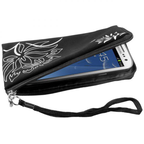 Neopren Zipper Handybeutel FLOWER Power für Samsung Galaxy S3 / S3 Neo
