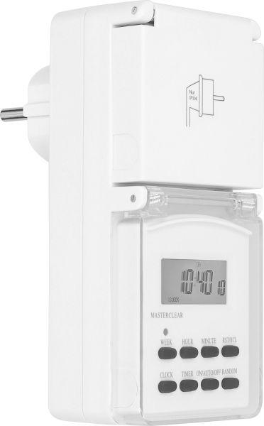 Digitale Zeitschaltuhr Outdoor bis 3600W in Weiß - m-DAZ3600