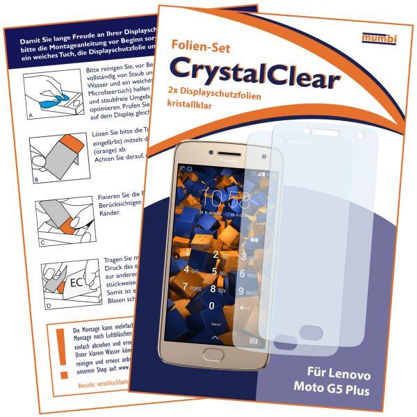 Displayschutzfolie 2 Stck. CrystalClear für Motorola Moto G5 Plus