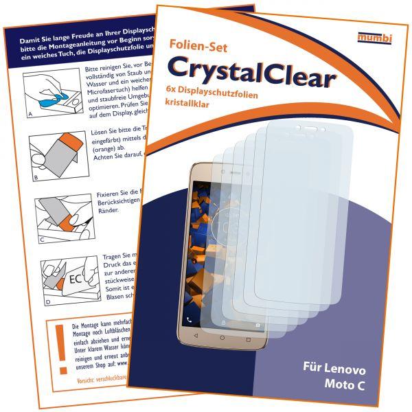 Displayschutzfolie 6 Stck. CrystalClear für Lenovo Moto C
