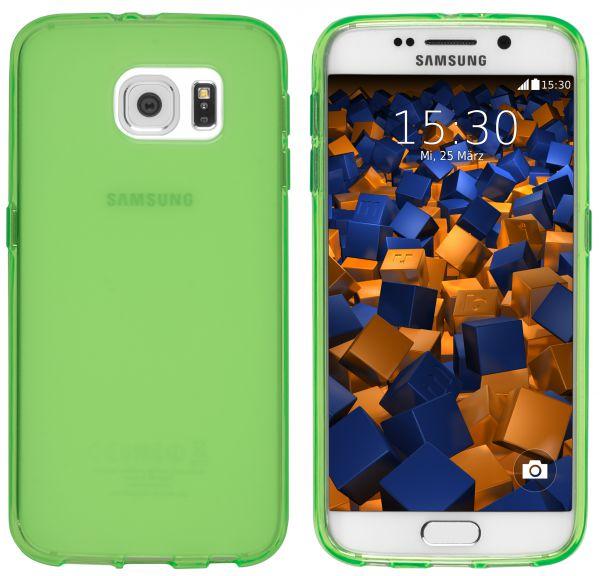 TPU Hülle (Slim - 1.2 mm) transparent grün für Samsung Galaxy S6 / S6 Duos
