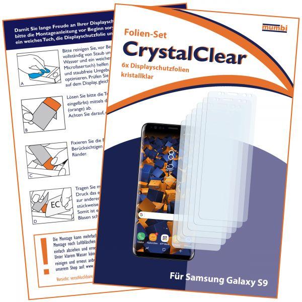 Displayschutzfolie 6 Stck. CrystalClear für Samsung Galaxy S9