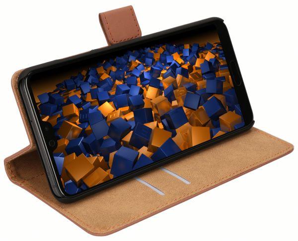 Bookstyle Tasche braun für Huawei P20 Pro