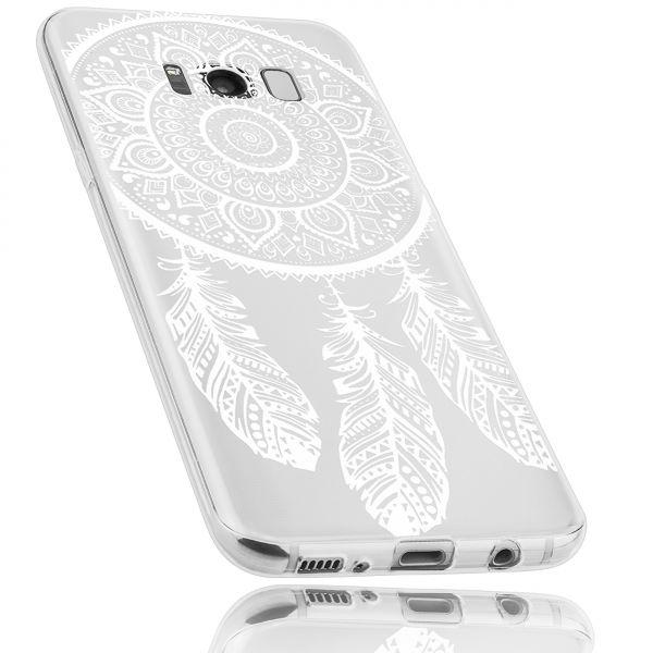 TPU Hülle Ultra Slim transparent Motiv Traumfänger für Samsung Galaxy S8 Plus