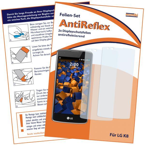 Displayschutzfolie 2 Stck. AntiReflex für LG K8 (2016)