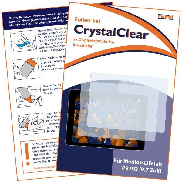 Displayschutzfolie 2 Stck. CrystalClear für Medion Lifetab P9702 / Lifetab P9701