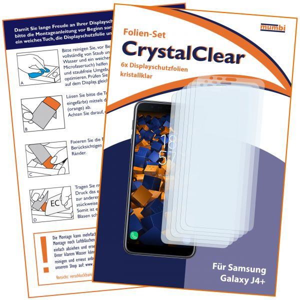 Displayschutzfolie 6 Stck. CrystalClear für Samsung Galaxy J4 Plus