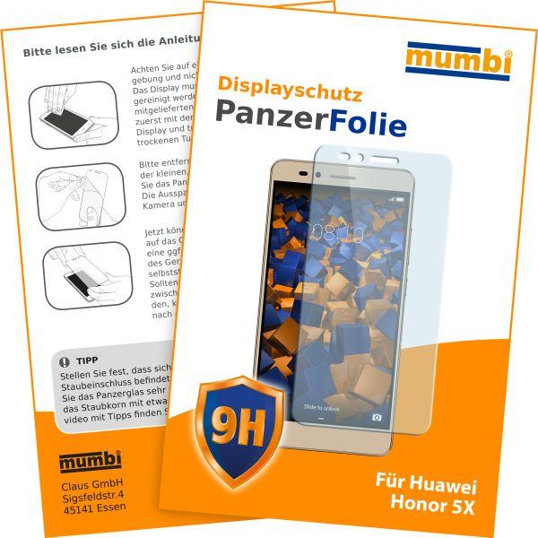 Panzerglasfolie Hartglas 9H für Huawei Honor 5X