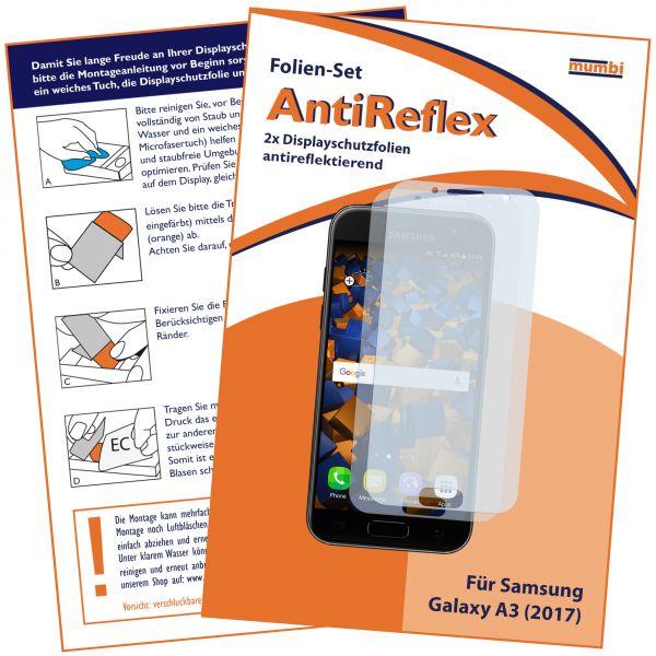 Displayschutzfolie 2 Stck. AntiReflex für Samsung Galaxy A3 (2017)