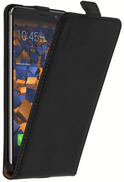 Flip Case Ledertasche schwarz für Huawei Mate 9