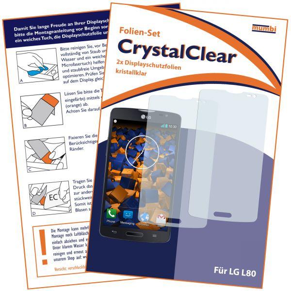 Displayschutzfolie 2 Stck. CrystalClear für LG L80