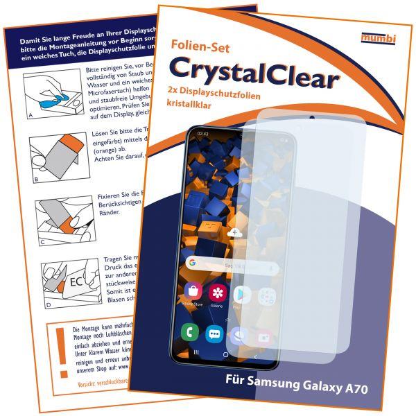Displayschutzfolie 2 Stck. CrystalClear für Samsung Galaxy A70