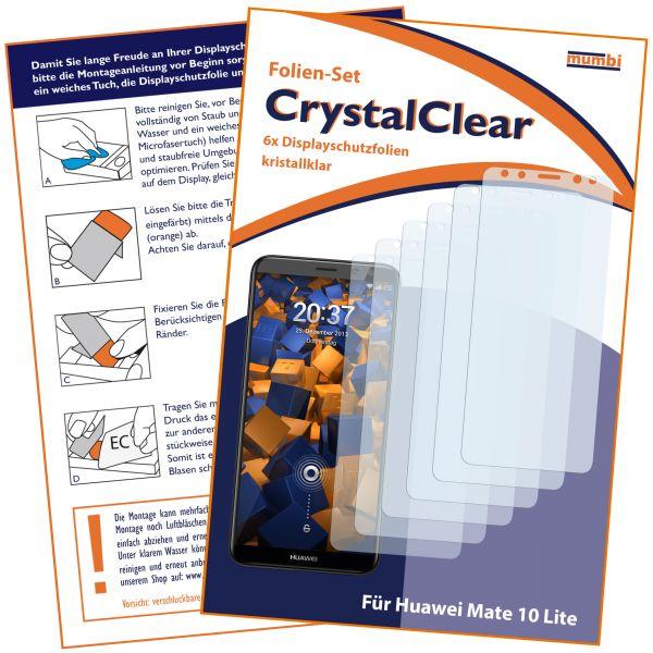 Displayschutzfolie 6 Stck. CrystalClear für Huawei Mate 10 Lite