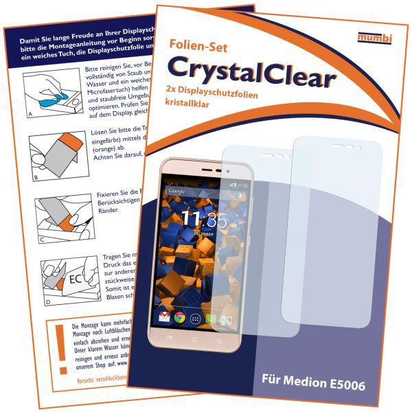 Displayschutzfolie 2 Stck. CrystalClear für Medion E5006